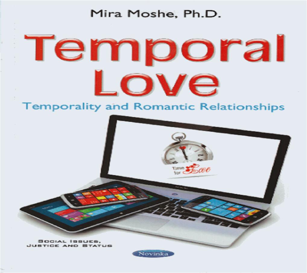 """ספר חדש על תפיסות זמן וזוגיות - """"אהבה זמנית"""" מאת ד..."""